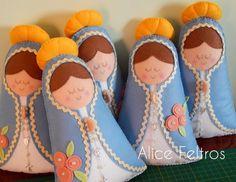 Nossa Senhora Das Graças em feltro