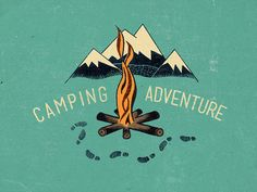 Rad vintage camping graphic by Steve Wolf Camping And Hiking, Tent Camping, Camping Hacks, Outdoor Camping, Camping Ideas, Winter Camping, Steve Wolf, Back To Nature, Man Alive