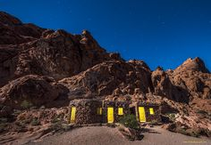 """""""The Cabins""""  peace, D.""""Bodhi""""  #ValleyofFire #Nevada #Desert #nightscape #landscape #surreal #impressionist #expressionist #Dolica #Nikon #Nikkor #D800 #Lee Filters #Bodhi #Smith #Photography #LE #LongExposure #stars #astronomy #MilkyWay"""