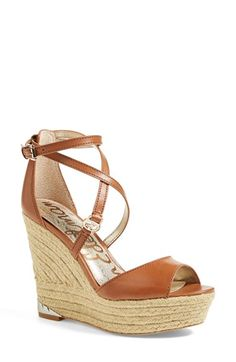 Free shipping and returns on Sam Edelman 'Turner' Espadrille Wedge Sandal (Women) at Nordstrom.com. Wraparound crisscross straps at the ankle further the sunny-day charm of an espadrille wedge sandal finished with gleaming logo hardware for a signature touch.