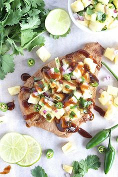 Healthy Homemade Teriyaki Chicken with Sweet and Spicy Pineapple Jalapeno' Salsa {Gluten Free & Paleo Friendly}   www.betterwithcake.com