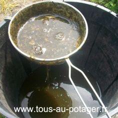 Filtration du purin d'ortie