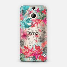 TROPICAL GARDEN by Monika Strigel for HTC One M8 Illustration on transparent case for Casetify 20 % OFF ! $25.57
