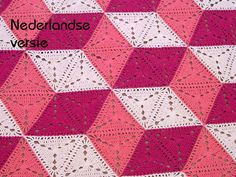 This listing is for the PDF PATTERN FILE ONLY, NOT THE FINISHED PRODUCT. If you want buy the finished blanket, visit http://www.etsy.com/listing/84080672/illusion-crochet-triangle-blanket. This is the Dutch version. ENGLISH VERSION available here: