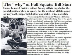 "The ""why"" of Full Squats, by Bill Starr."