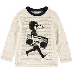 Little Marc Jacobs Long-sleeved cotton jersey T-shirt Cream - Ivory - 79882   Melijoe.com