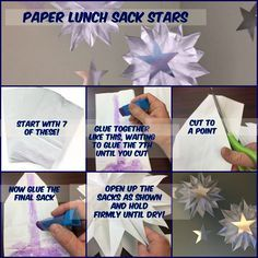 How to Make Stars using paper lunch sacks from Mr. Mark's Classroom @ Lifeway's VBS Preview Event in Fort Worth, TX. VBS 2017 Galactic Starveyors