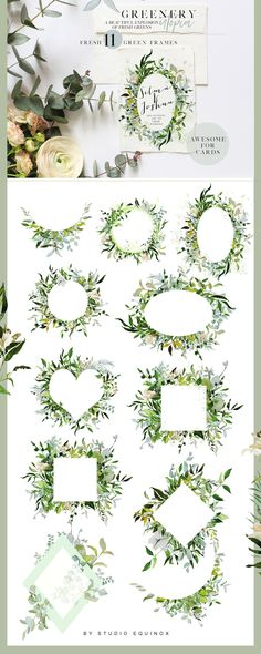 LUSH - Greenery Art Project by studioequinox on @creativemarket #alphabet #watercolor #wedding #weddinginvitations #frame