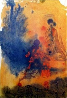 Salvador Dali (1904 - 1989) | Symbolism, Abstract Expressionism | Sponsabo te mihi in sempiternum (Song of Songs 2:12) - 1967