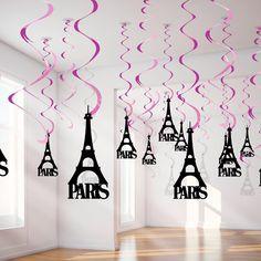 """""""As Espirais Paris deixarão sua festa ainda mais charmosa.  Procure na loja de artigos para festa mais próxima de você!  #festatematica #decorevocemesma…"""""""