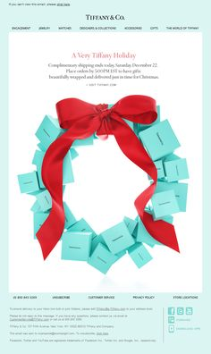 christmas campaign A Very Tiffany Holiday Blue Christmas, Christmas Time, Christmas Wreaths, Christmas Gifts, Christmas Decorations, Merry Christmas, Christmas Ecard, Christmas Ideas, Christmas Adverts