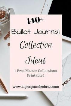 bullet journal collection ideas - bullet journal - bujo collections - printable - bullet journal printable