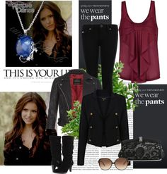 Vampire diaries outfits, vampire diaries the originals, katherine pierce ou Vampire Diaries Outfits, The Vampire Diaries, Bonnie Bennett, Elena Gilbert, Caroline Forbes, Nina Dobrev, Casual Outfits, Cute Outfits, Fashion Outfits