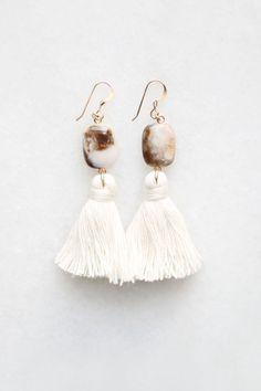 Peruvian Opal Tassel Earrings