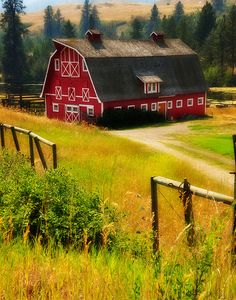 Someday I want a garage that looks like a big red barn.