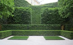 Quincy Hammond, Landscape Architect, Paris. I would like to add one focal point to this wonderful backdrop of clipped greens
