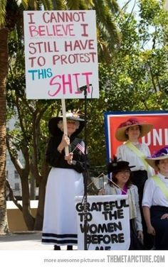 At a women's equality demonstration…