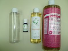 Homemade Body Wash Recipe – Free of Toxic chemicals that are found in normal body wash products that can cause cancer.