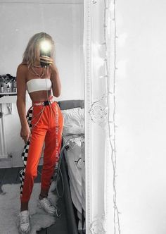 Channel your inner bad bitches, techno freak with these amazing festival fashion outfits! Get links to outfits and items all in one place! Edgy Outfits, Summer Outfits, Fashion Outfits, Orange Outfits, Cochella Outfits, Prom Outfits, Fashion Ideas, Fashion Mode, Look Fashion