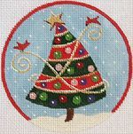 Red & Green Striped Tree Ornamanet from Julie Mar & Friends