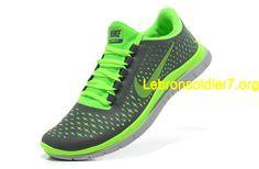 Nike Free 3.0 V4 Womens Electric Green Dark Grey Silver 511457 030