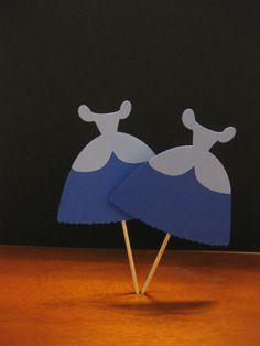 Cinderella Dress Cupcake Toppers by cutnpaper on Etsy, $6.00