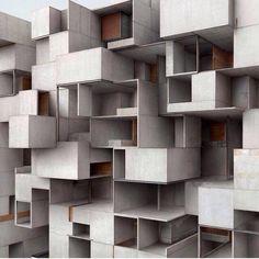 arquilatria: Le Corbusier Cité Ideia para parede de caixotes