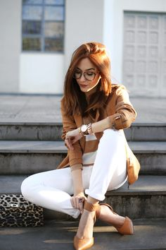 white and camel <3