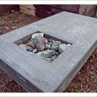 concrete fire pit table ::: Fire Pits, Vessels, Hearths ::: concrete in the landscape