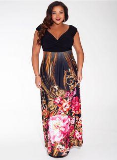 Sylvia Maxi Dress in Ruby Paradise