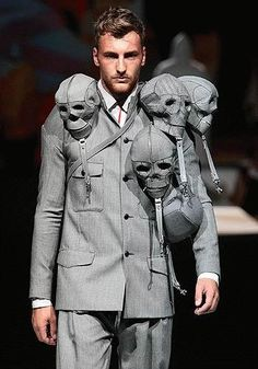 'Don't mess with the power of the future of our fashion!' say we at this SkullJacket by Spiraltwist, via Flickr