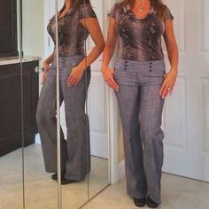 TWENTY ONE PANTSFIRM PRICE!! Very flattering casual dress pants. Cool, classy and chic! Light use and in great condition!! Twenty one Jeans Flare & Wide Leg