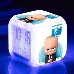 Multifunction Watch Backlight LED Alarm Clock The Boss Baby reloj despertador 7 Color Flash Digital clock