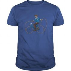 Cowboy Riding Bike With Lasso Wheels