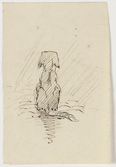 Dog, by Adolf le Comte - Collection Teylers Museum. Abstract Sketches, Art Sketches, Sketches Of Dogs, Pencil Drawings Of Animals, Animal Sketches, Scruffy Dogs, Dachshund Art, Cat Sketch, Dog Crafts