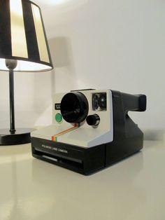 Polaroid Camera 1000 Rainbow Land Camera SX-70 type instant film with large case