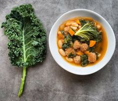 Spicy pork and mustard greens soup is a healthier alternative. #soups #healthy #eating