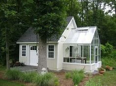 inspiration for attached carport with south-facing greenhouse...