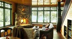 fieldstone fireplace | The following pictures of stone fireplaces taken by Roger Wade Studio ...