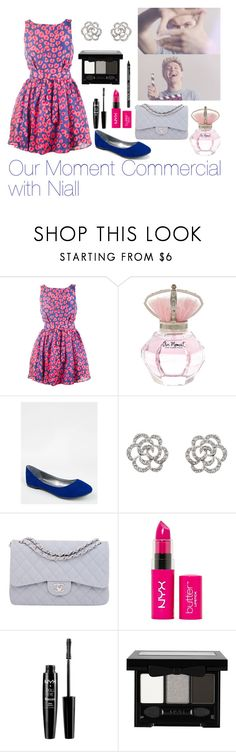 """""""Our Moment Commercial with Niall"""" by elise-22 ❤ liked on Polyvore featuring Thakoon Addition, River Island, Breckelle's, Finesse, Chanel, NYX and NiallHoran"""