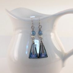 Baby Blue Silver Earrings Silver Earrings by CinLynnBoutique