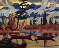 Vancouver Art Gallery struggles with Group of Seven authenticity mystery - The Globe and Mail Group Of Seven Paintings, Paintings I Love, Group Of Seven Artists, Acrylic Paintings, Canadian Painters, Canadian Artists, Walt Whitman, Tom Thomson Paintings, Vancouver Art Gallery