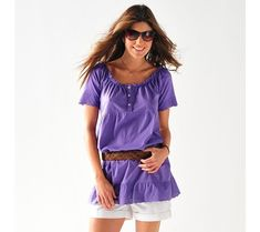 Tričko, čtvercový výstřih   vyprodej-slevy.cz #vyprodejslevy #vyprodejslecycz #vyprodejslevy_cz #tshirt Summer Outfits, T Shirt, Spring, Broderie Anglaise, Woman Clothing, Cotton, Round Collar, Romantic, Sleeves