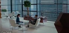 First fateful meeting: The trailer opens with Christian Grey and Anastasia Steele's initia...