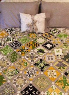 Farmers Wife Sampler. Hand pieced and hand quilted. Queen size. Started August 2011. Finished January 2013.