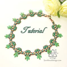 Pdf Tutorial Fiesta Necklace with DiamonDuos di IceniBeadDesign