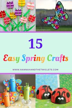 Are you looking for some simple but effective craft activities to do with your children? Here are 15 super easy spring craft ideas! Diy Projects For Kids, Easy Crafts For Kids, Craft Projects, Craft Ideas, Spring Activities, Craft Activities For Kids, Infant Activities, Baby Crafts, Toddler Crafts