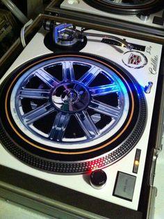 Technics MK2 1200 / Cadillac. #djculture #turntable http://www.pinterest.com/TheHitman14/dj-culture-vinyl-fantasy/