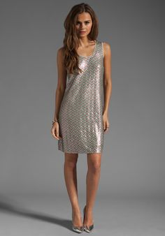 ELLA MOSS Joliet Sequin Dress in Blush Multi - Sequin