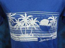 vintage 80s HAWAII BEACH SURF SUNSET T-Shirt SMALL/MEDIUM skate palm tree soft